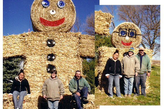 Tracie Phillips gingerbread hay bale