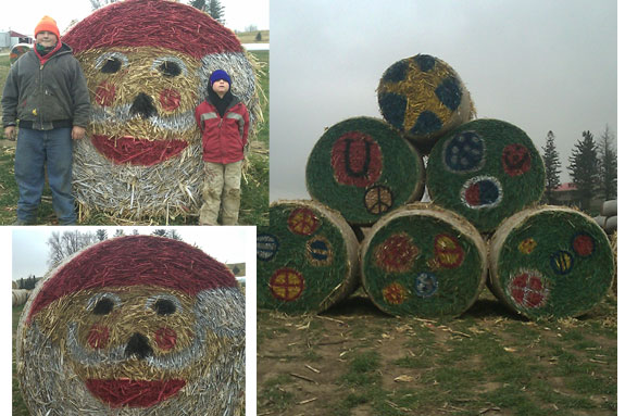 Jan Ahrendsen hay bale decorating contest 2010