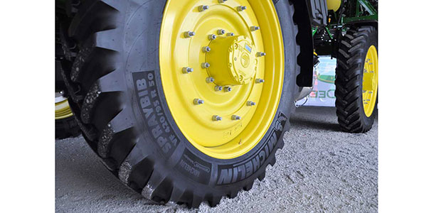 Michelin's new 50-inch SprayBib tire