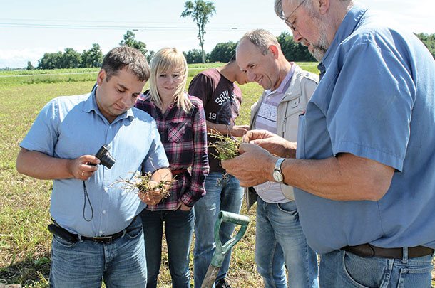 Russian farmers visited northern New Your to learn how they might apply the nematode