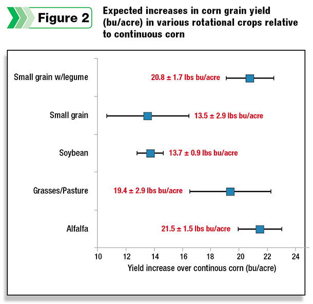 Expected increases in corn grain yield