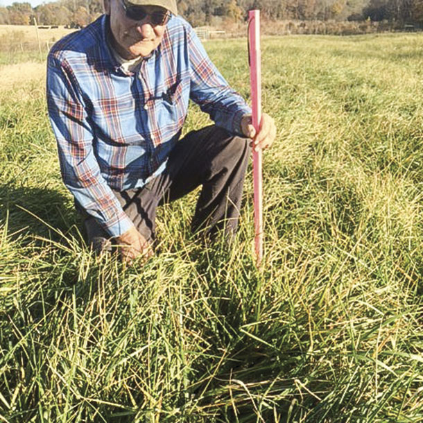Oscho Deal shows the new grass height and the grazed grass height.
