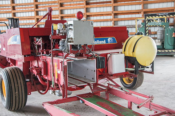Modified baler with the chamber size reduced.