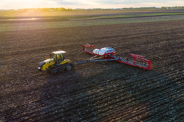 Challenger MT743 with White Planter 9824VE high-speed planter DJI 0742