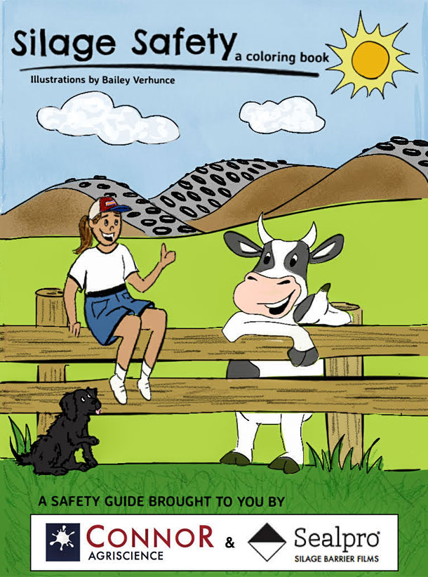 silage safety coloring book