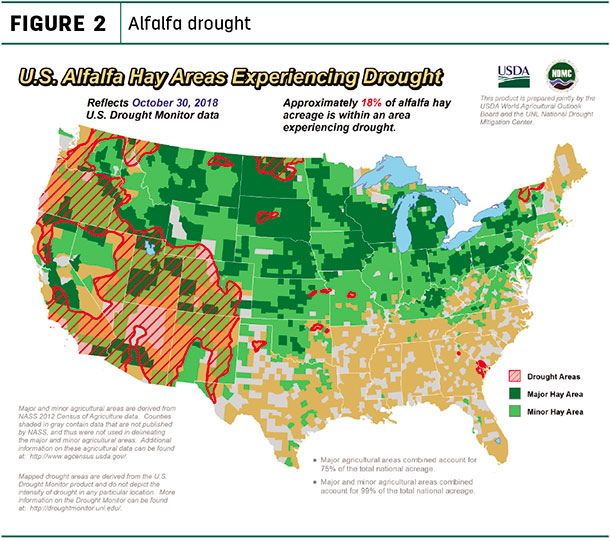 alfalfa drought map