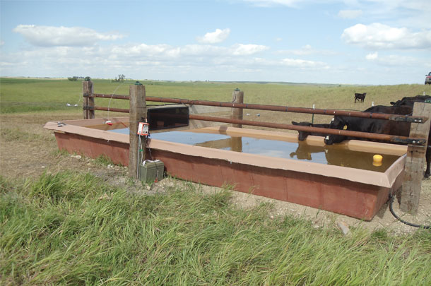 Water tank for four different pastures