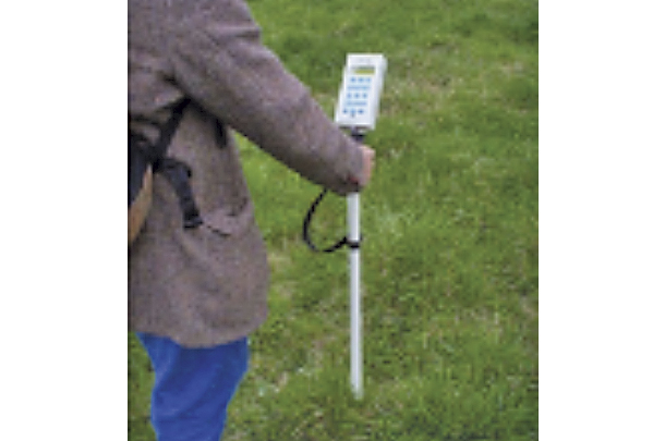 A capacitance probe is being used to mearsure pasture capacitance