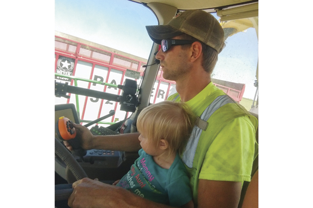 Harvesting is a family affair